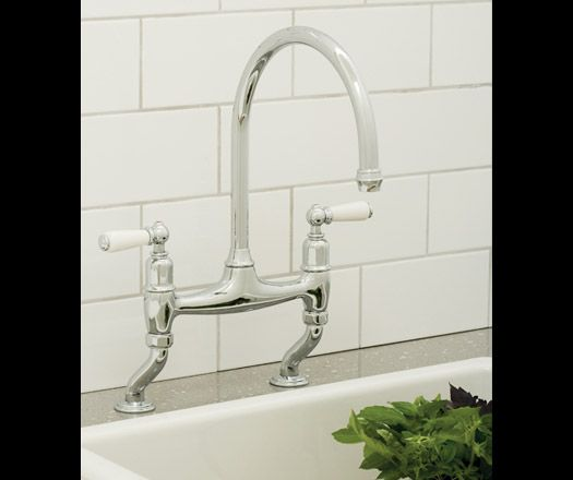 Perrin & Rowe Ionian Deck Mounted Sink Mixer in Chrome complete with ...