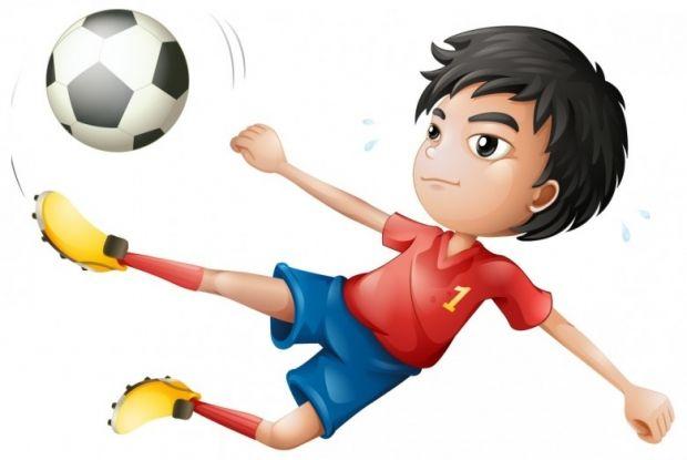 Football Girl Standing Football Girls Girl Standing Girl Cartoon