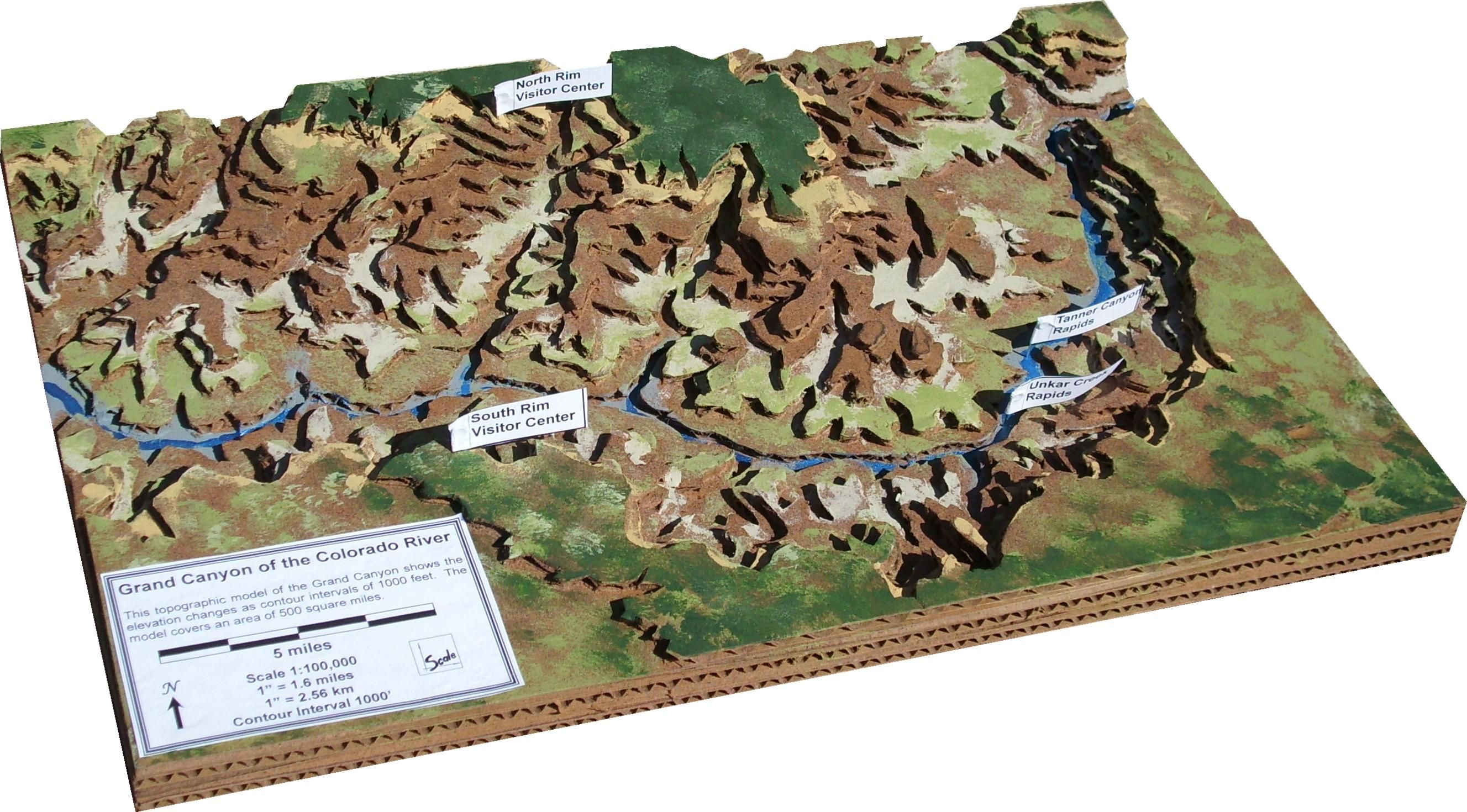 Scale Model Of The Grand Canyon From Geoblox Grand Canyon