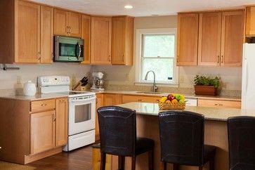 Cape Home Addition with Luna quartz & maple cabinets