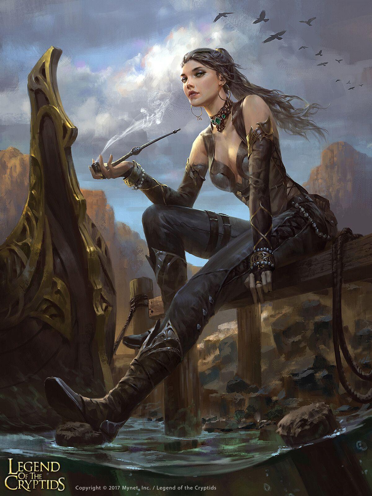 Ruins Paddler Sastiva By Wisnu Tan With Images Fantasy Art Women