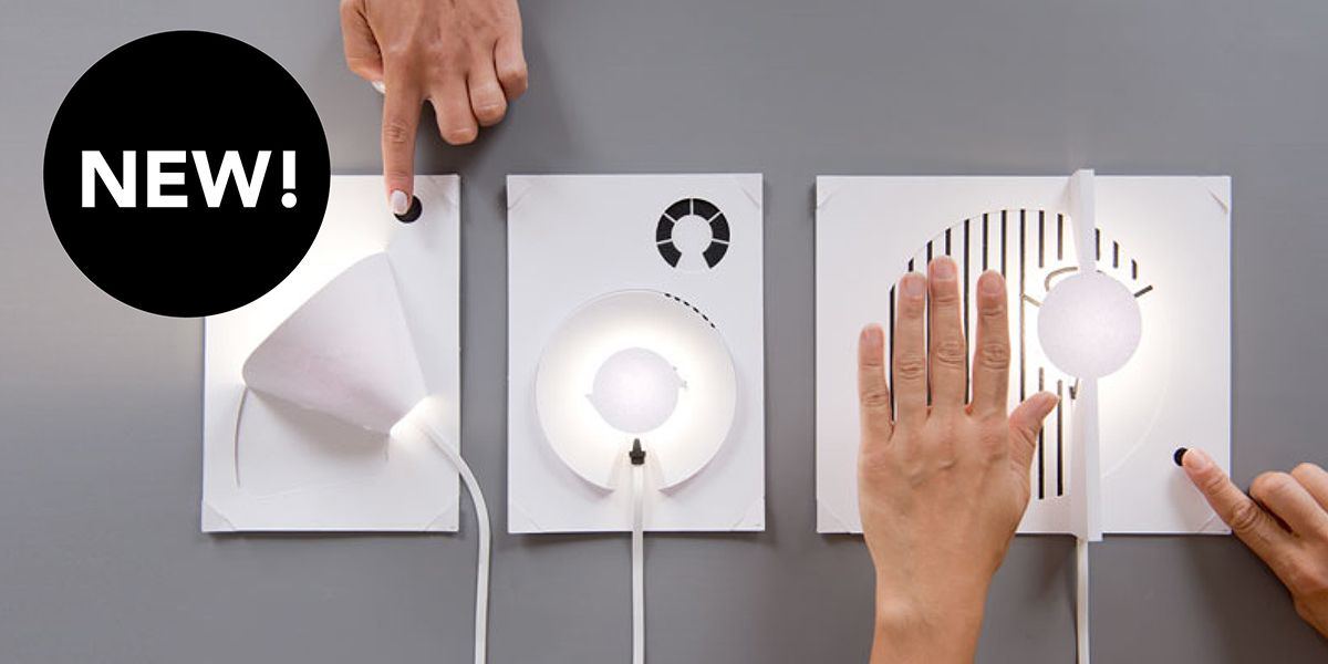 Magically Transform Any Piece Of Paper Into One Of Three Touch Sensitive Lamps With Electric Paint And The Electric Pa Painting Lamps Touch Sensitive Lamp Lamp