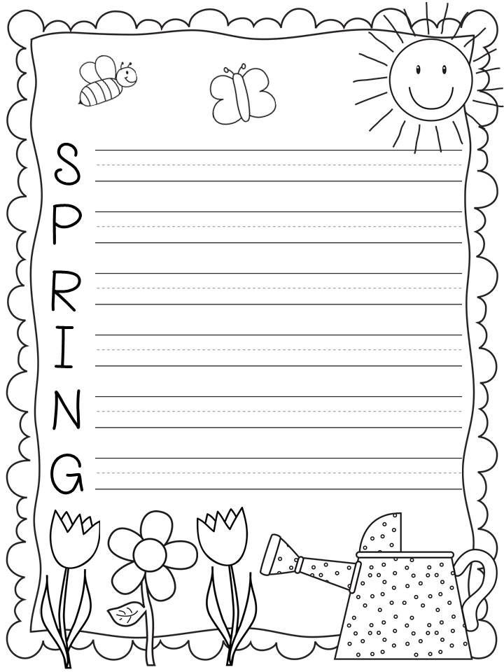 Acrostic Poem Template for Spring Writing! #freebie From A Sunny - free handwriting paper template