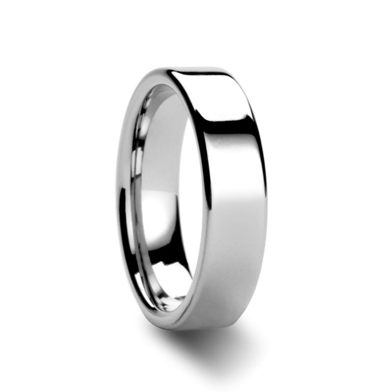 Athena Women S Flat Tungsten Carbide Wedding Band 4mm 6mm White Tungsten Ring Tungsten Carbide Wedding Bands Tungsten Ring