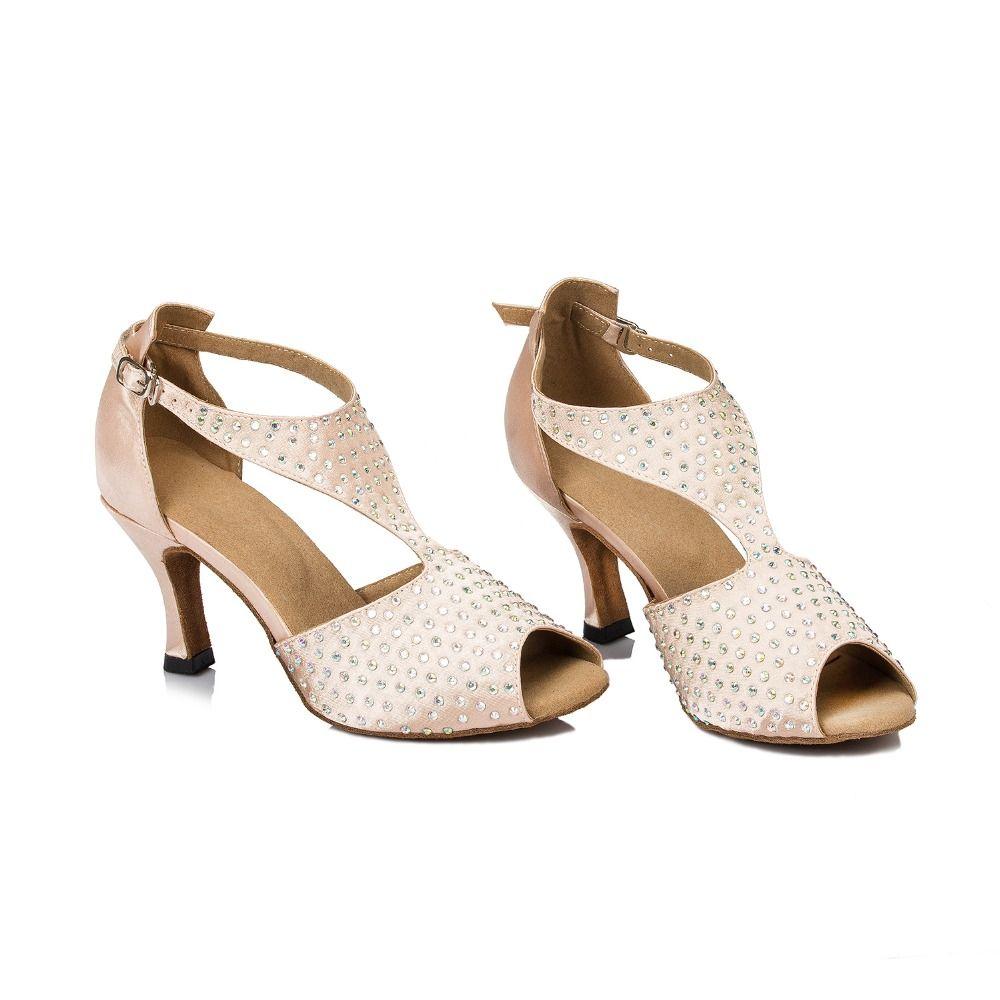 D1037 Ladies Ballroom latin dance shoes discount price dance shoes ship worldwide