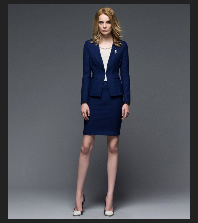 Ladies navy blue dress suit | Color dress | Pinterest | Blue ...