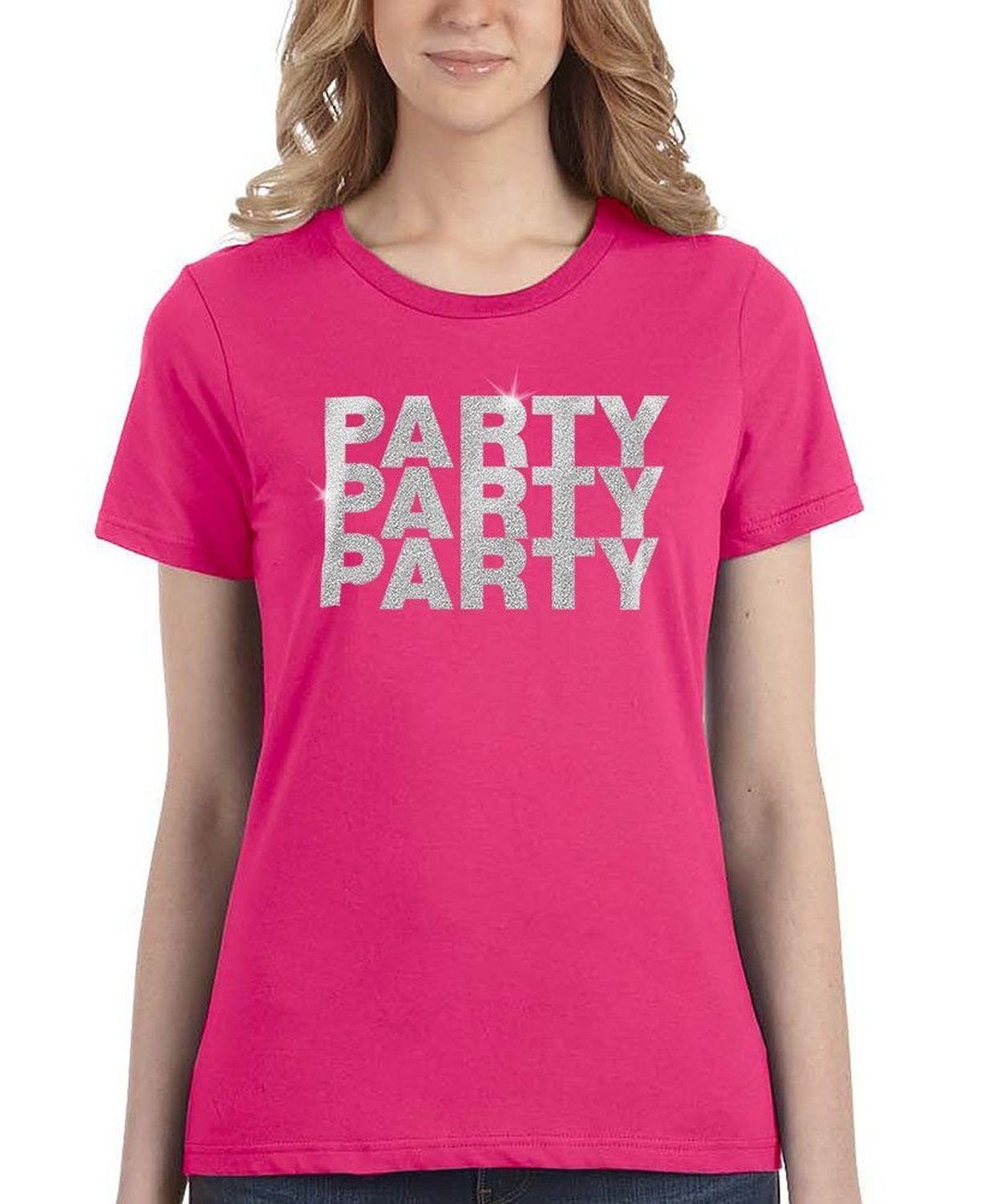 Glitter Effect Party Mens Unisex and Ladies T-shirt