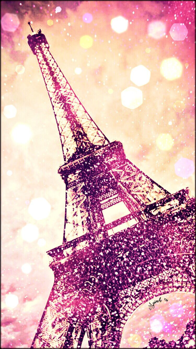 Cute Eiffel Tower Wallpaper For Iphone Vintage Glitter Eiffel Tower Wallpaper My Wallpaper
