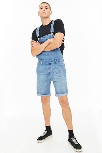 33e145fba223 Denim Overall Shorts. Men s Bottoms