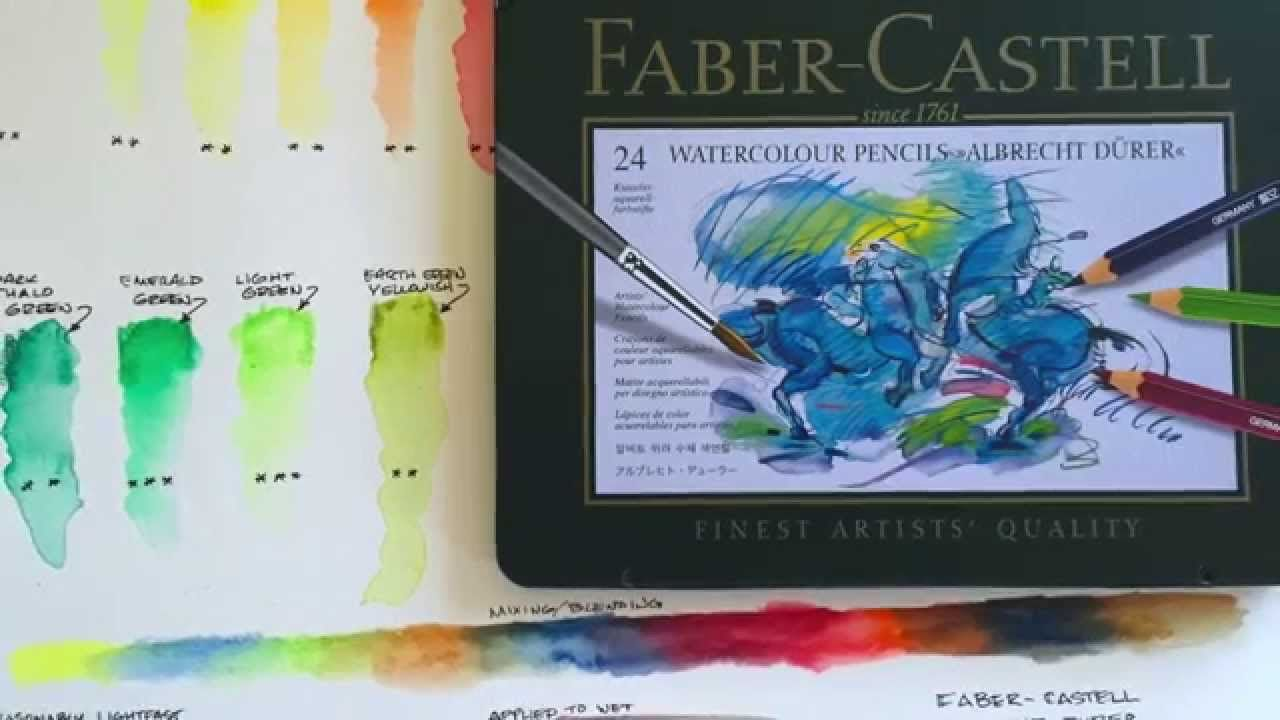 Faber Castell Albrecht Durer Watercolor Pencils With Images