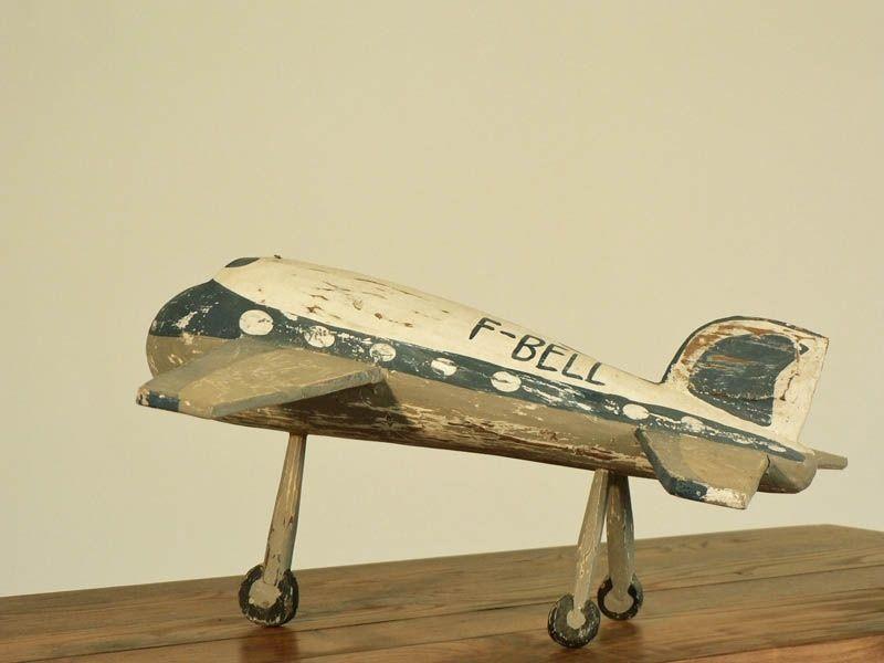 avion en bois jouet enfant ancien jouets et jeux anciens. Black Bedroom Furniture Sets. Home Design Ideas