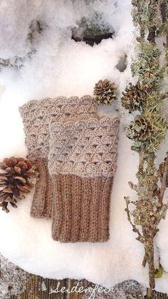 Weich Und Warm Für Kalte Wintertage Gehäkelte Stulpen Cosy And