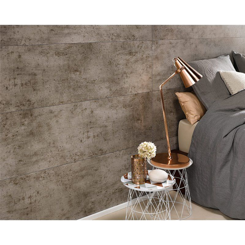 Revestimiento Impermeable Dark Cement Dumawall Wall Cladding Bedroom Inspirations Finishing Trim