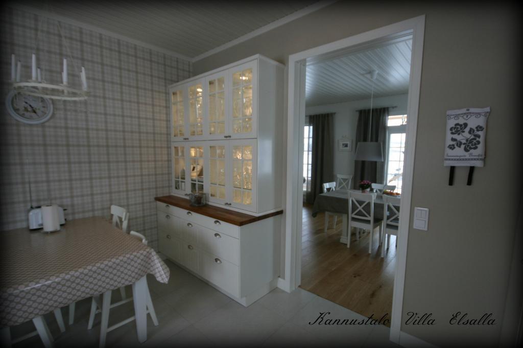 Keittiön uudet verhot  Villa Elsalla  Sisustus  Pinterest
