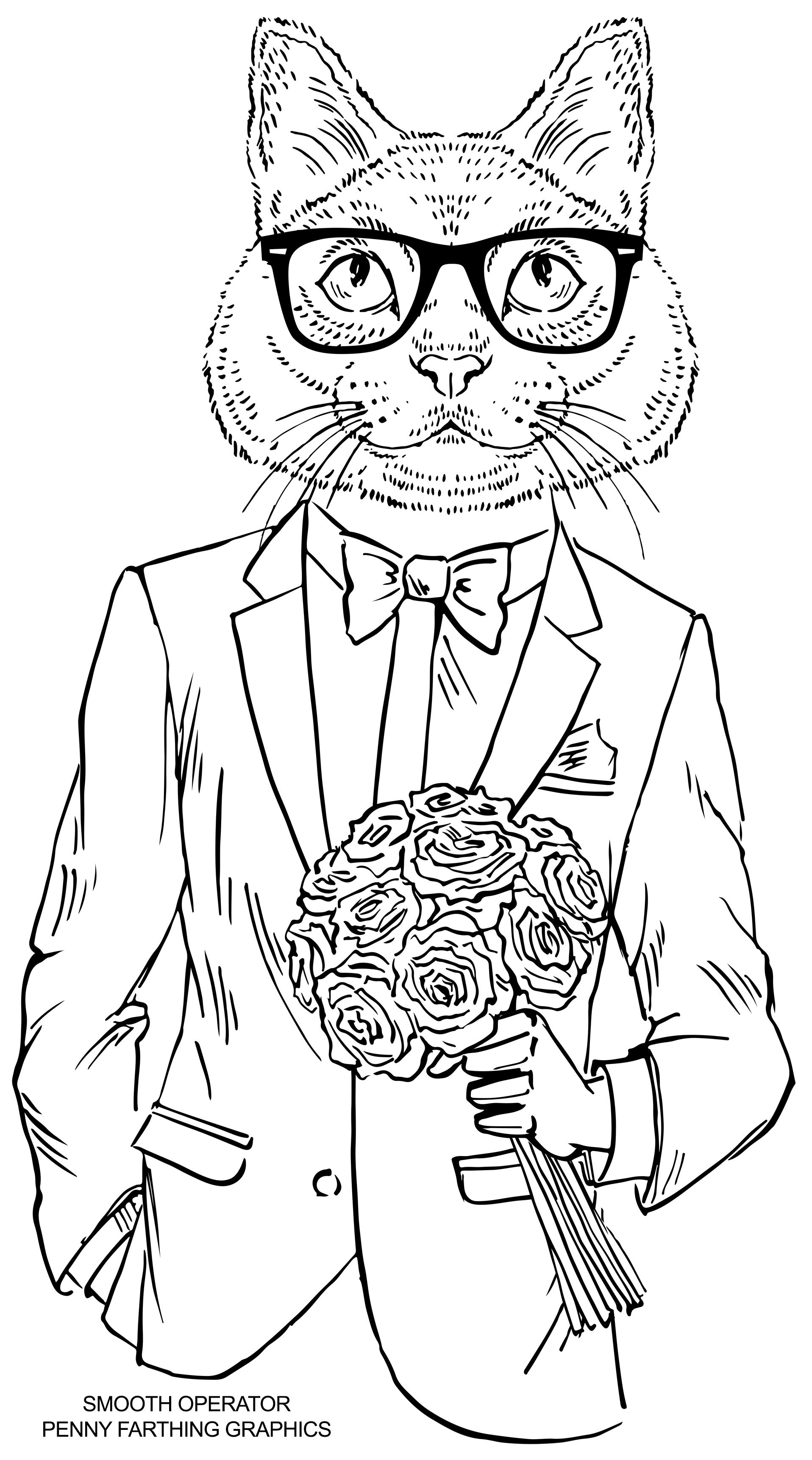 dapper animals coloring book cat from smooth operator would love to buy these