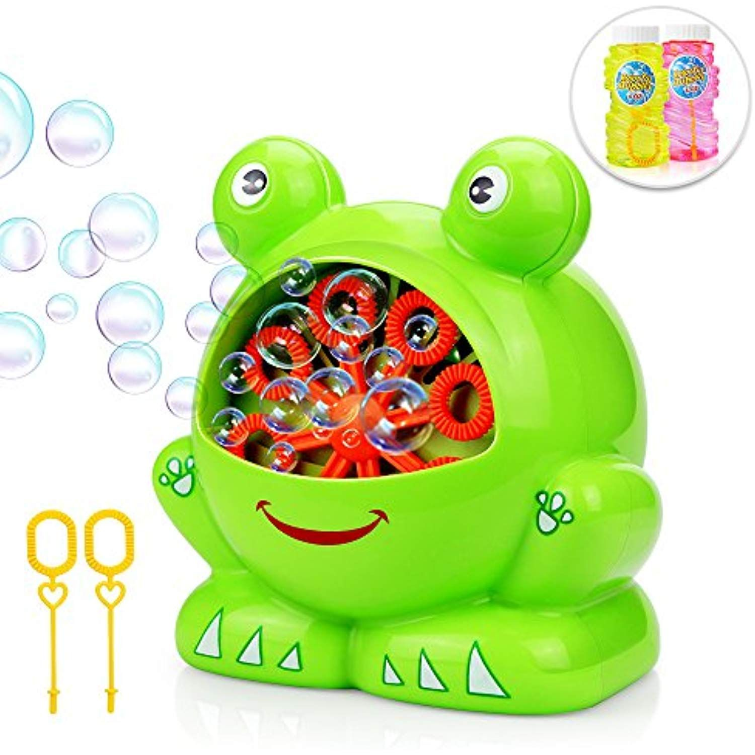 Bubble Machine Betheaces Automatic Durable Bubble Maker 500 Bubbles Per Minute With 8oz Refill Solution Water Summer Toy Fo Summer Toys Bubble Maker Kids Toys