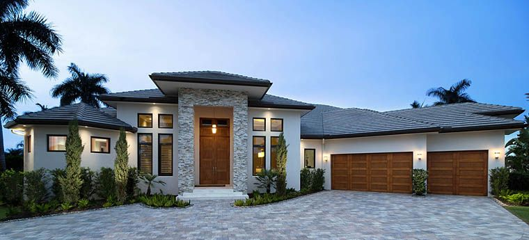 Southwest Style House Plan 75982 With 3 Bed 4 Bath 3 Car