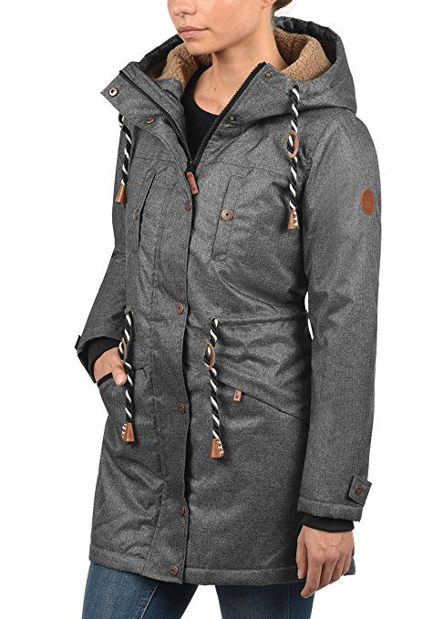 BLEND SHE Dale Damen Parka lange Jacke Winter Mantel mit