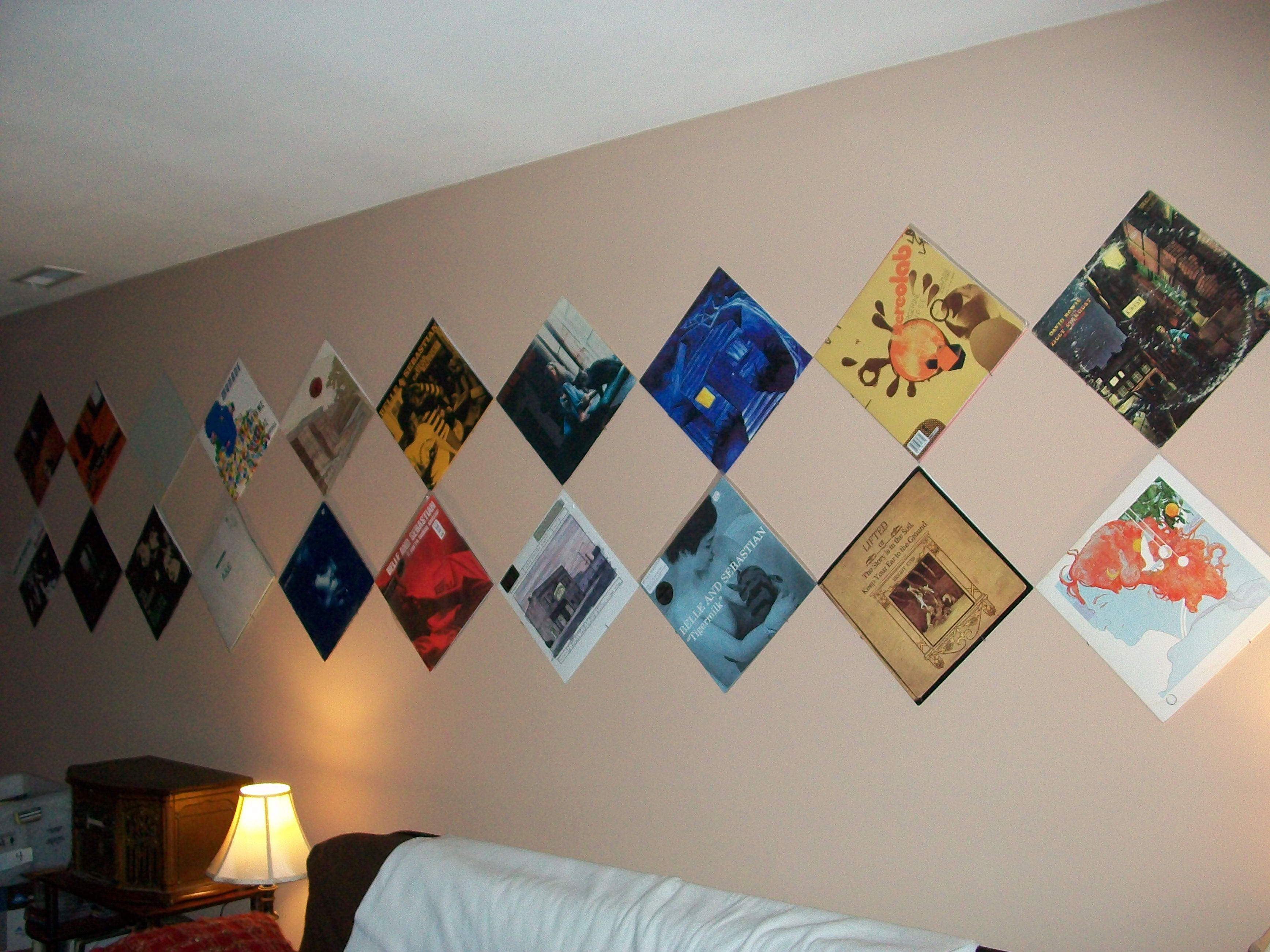 Lovely How to Hang Records On the Wall