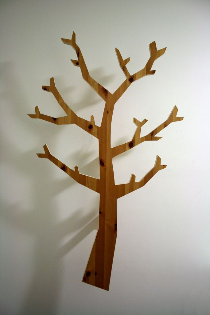 Make A Fancy Looking Tree Shaped Hatstand Out Of Scrap