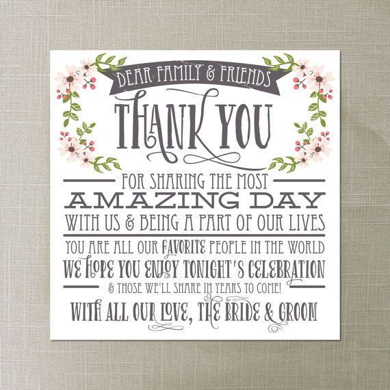 Wedding thank you cards that make writing them a piece of cake this rustic wedding thank you card has all the right words already there tied together junglespirit Choice Image