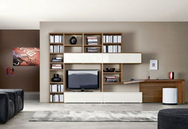 Meuble Tv Systeme Rangement Salon Moderne Mobilier De Salon Meuble Salon Salon Moderne