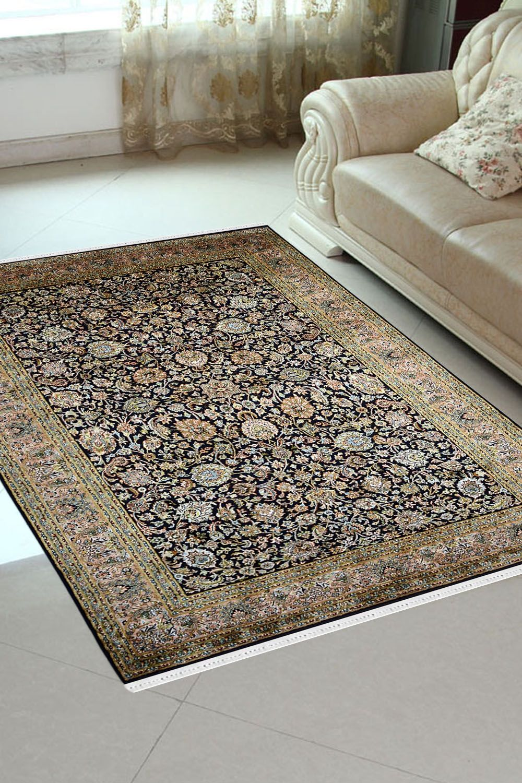 Neel All Over Kashan Bagh Carpet