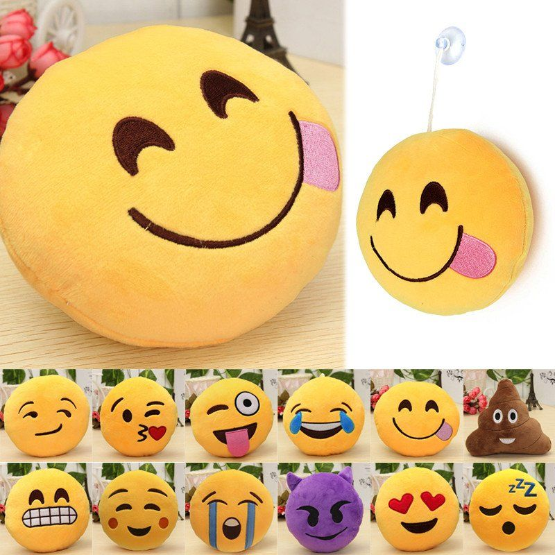 6 inch emoji smiley pillows