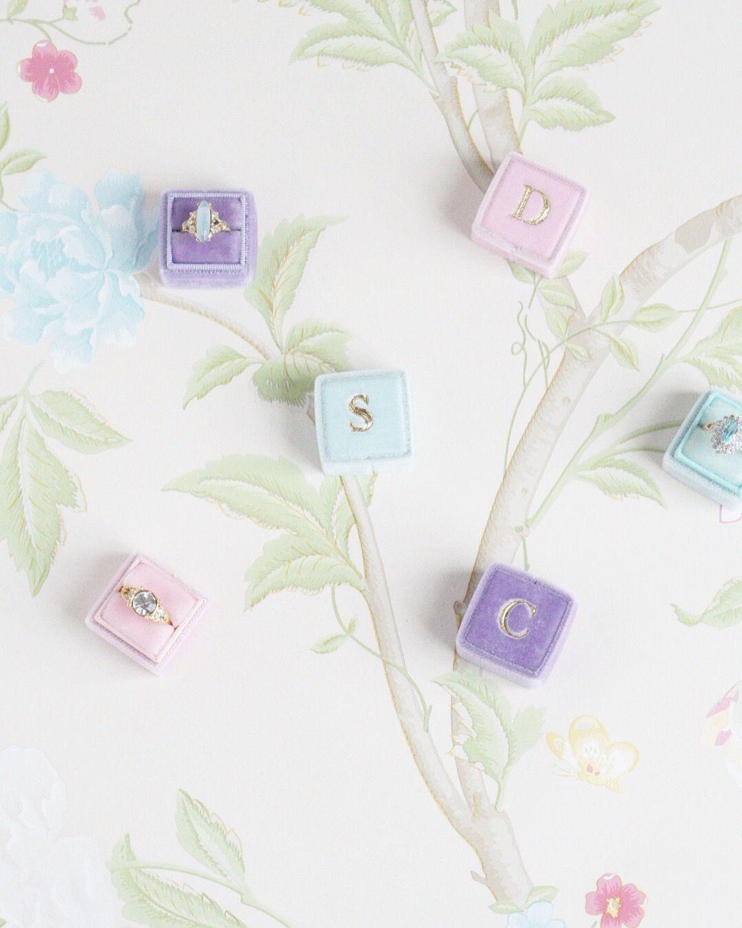 Velvet Wedding Ring Box Fresh Bridal Flower Pastel Blooms Laura Ashley Wallpaper