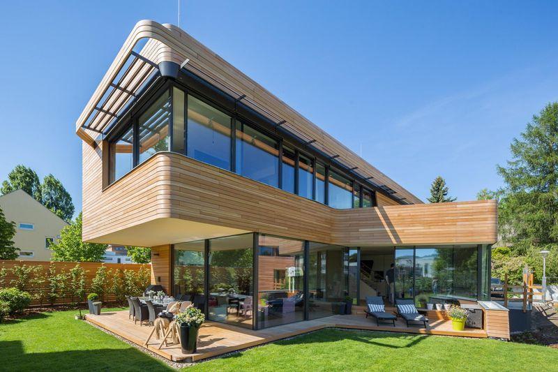 Superbe maison contemporaine en bois aux standards de lu0027éco