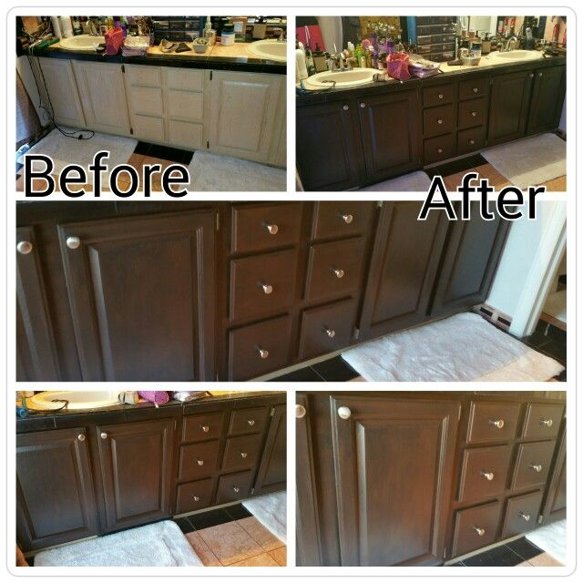 Renovated cabinets