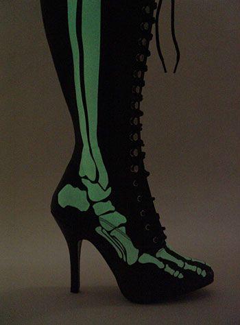 X-Ray Glow Bones Boots