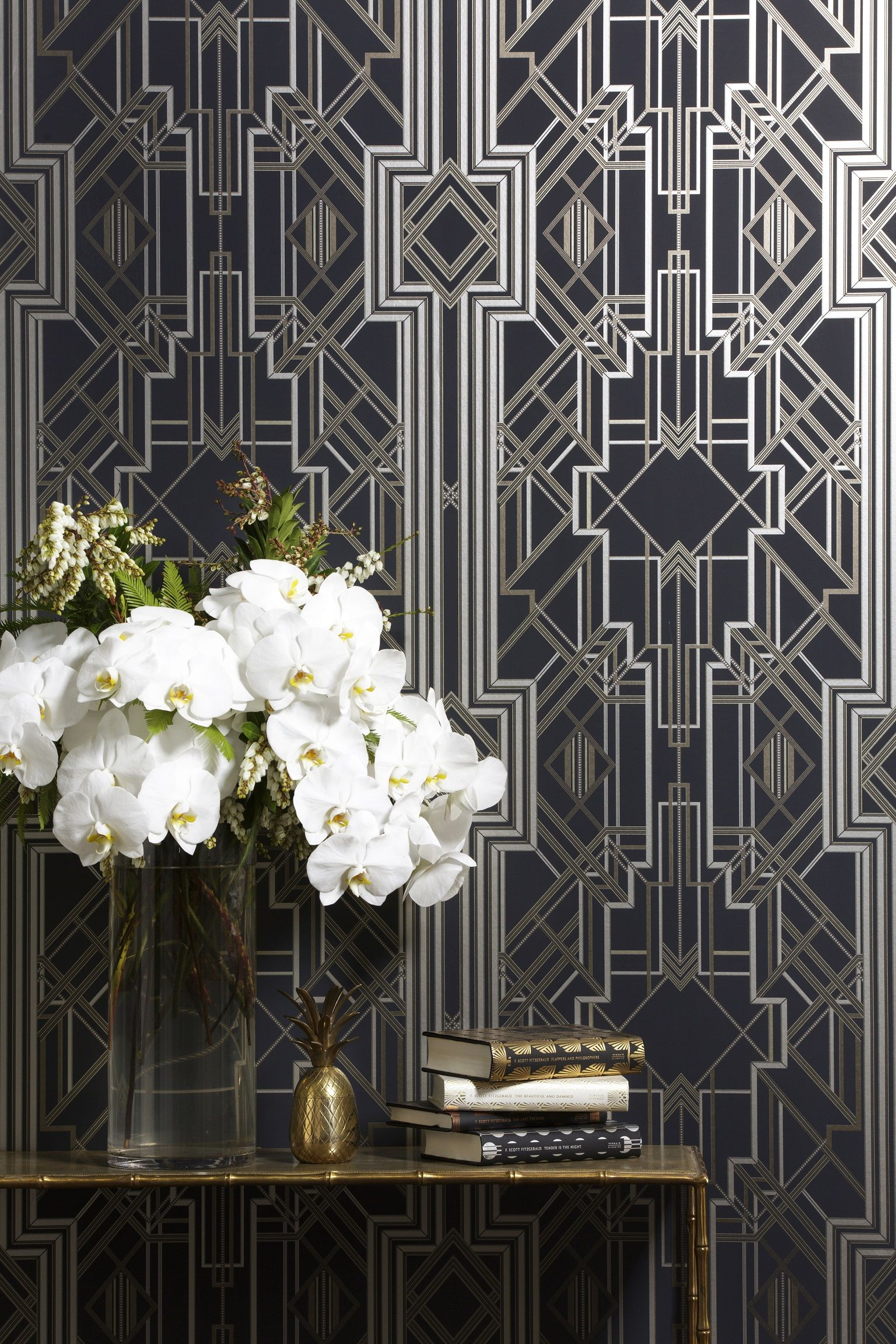 Wallpaper from Metropolis Collection by Catherine Martin for Great