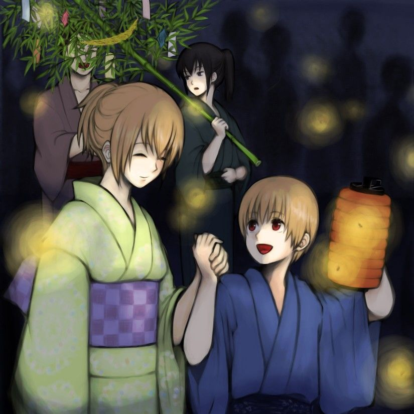 Gintama Okita Mitsuba, Sougo and Hijikata