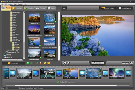 photo slideshow creator allows you to create cool slideshows of your photos complete with music animated transitions between slides and fancy designs