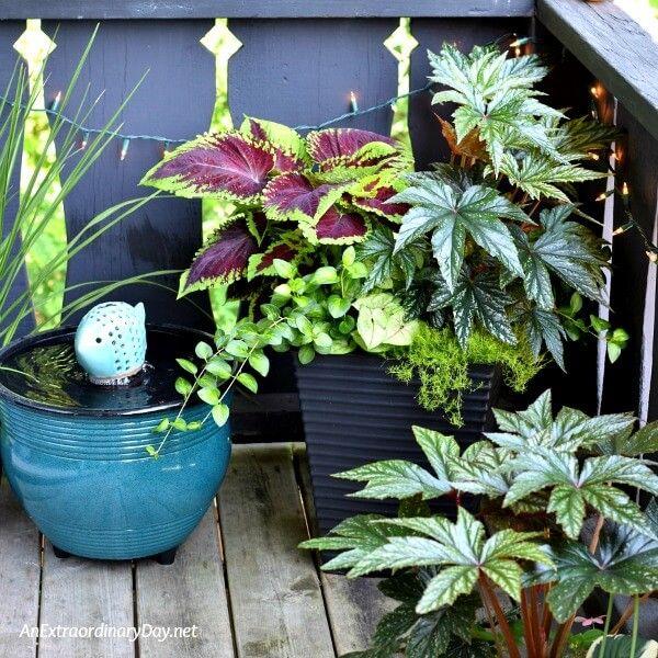 Elegant Balcony Garden Containers