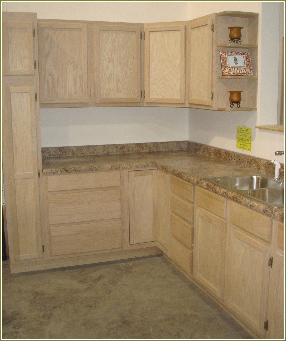 Home Depot Kitchen Cabinets Prices: Home Improvements Refference Unfinished Pine Cabinets Home