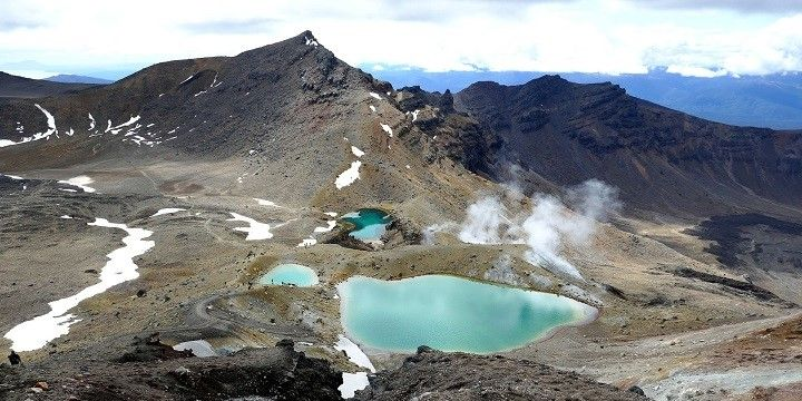Emerald Lakes, Mount Tongariro, North Island, New Zealand, Oceania