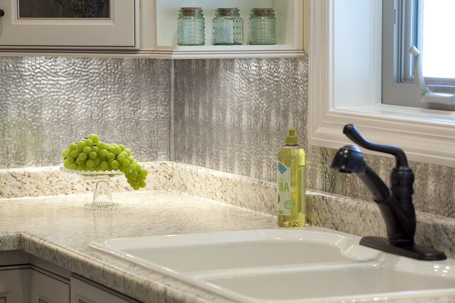 Backsplash Photo Gallery Industrial Styles Backsplash Panels Metallic Backsplash Sheet Metal Backsplash