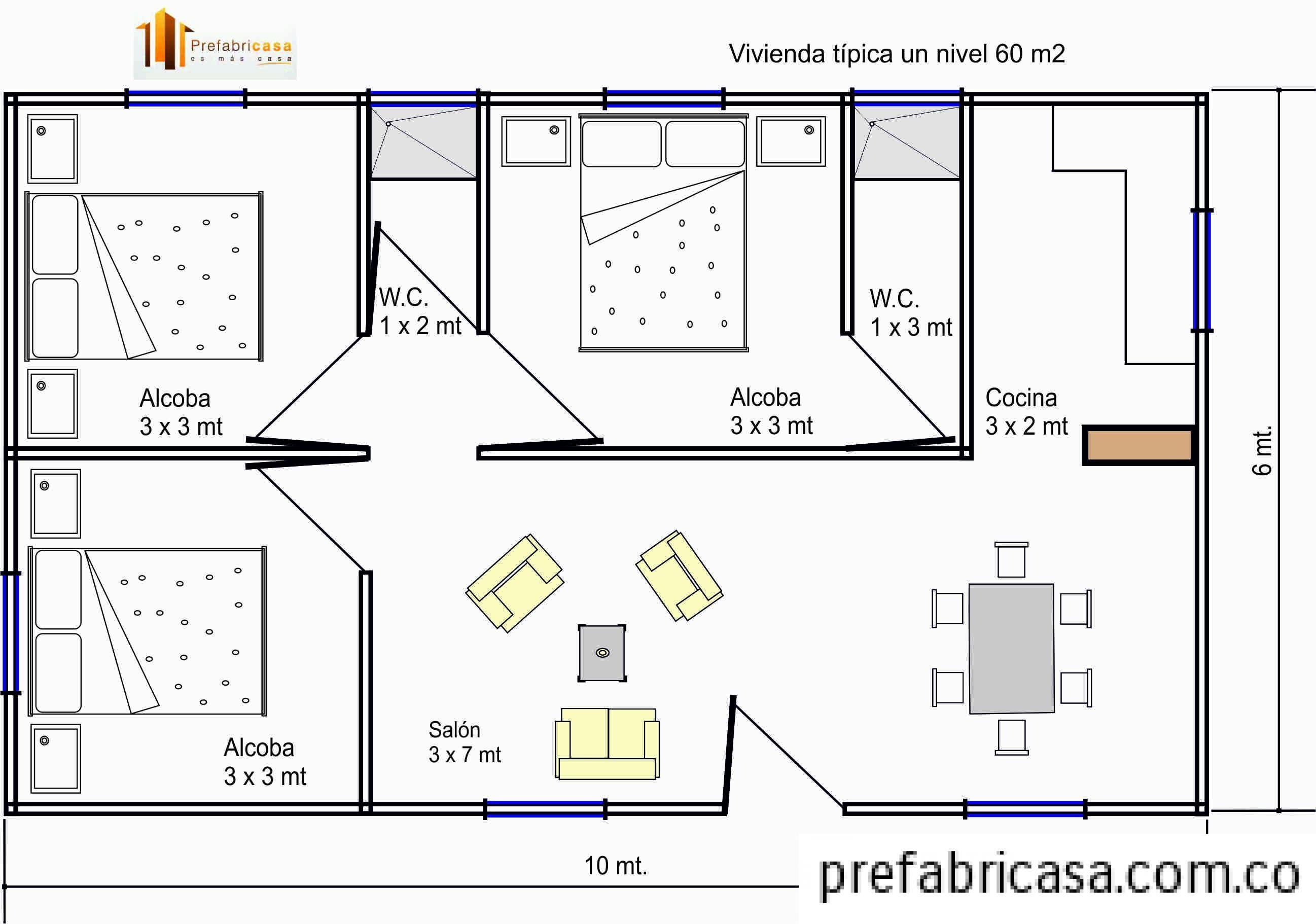 Casas Prefabricadas 60 m2 2595—1822 архитектура