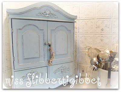 Elegant Vintage Metal Pantry Cabinet