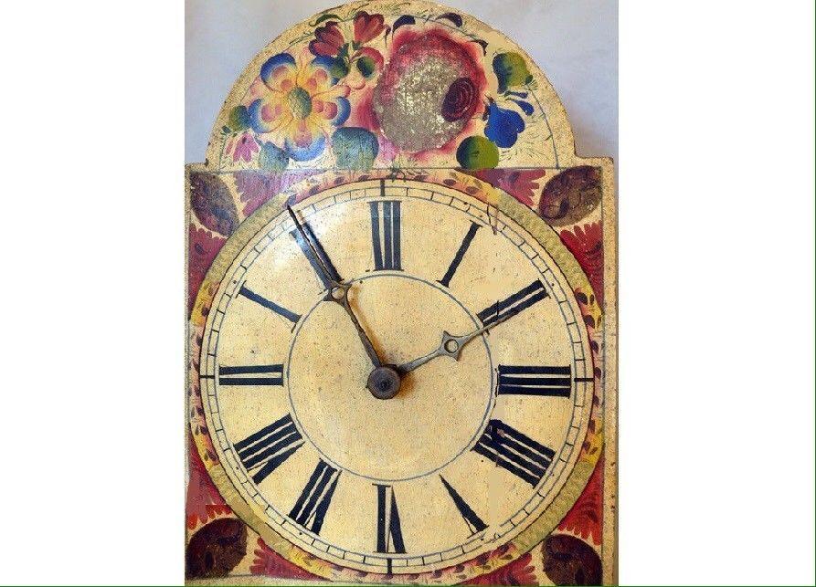 Uhr mit Weltkarten des 18 Jhd. Vintagelook wie antik