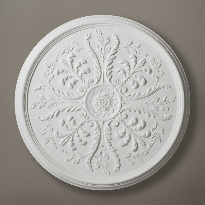 Leaf Pattern Plaster Ceiling Rose