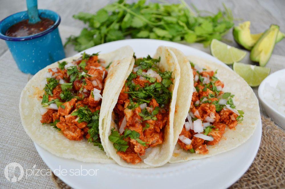 Tacos De Pollo Al Pastor Receta Muy Fácil Deliciosa Receta Tacos De Pollo Tacos De Cerdo Sopa De Lentejas