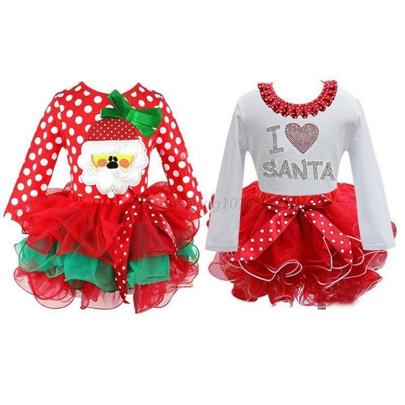 Awesome Amazing US Infant Baby Girl Long Sleeve Christmas Santa
