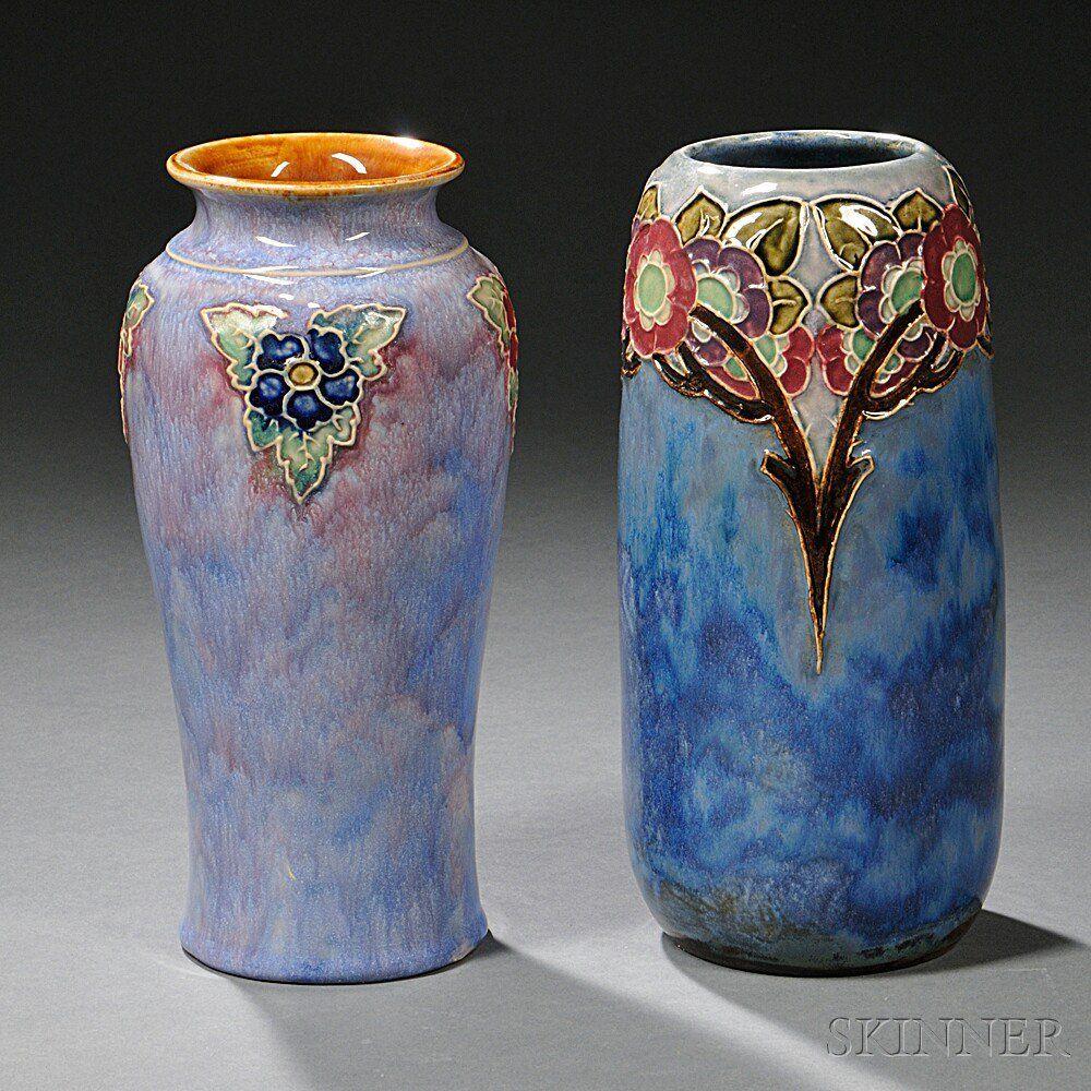 Two royal doulton stoneware vases moorcroft pinterest stoneware two royal doulton stoneware vases reviewsmspy