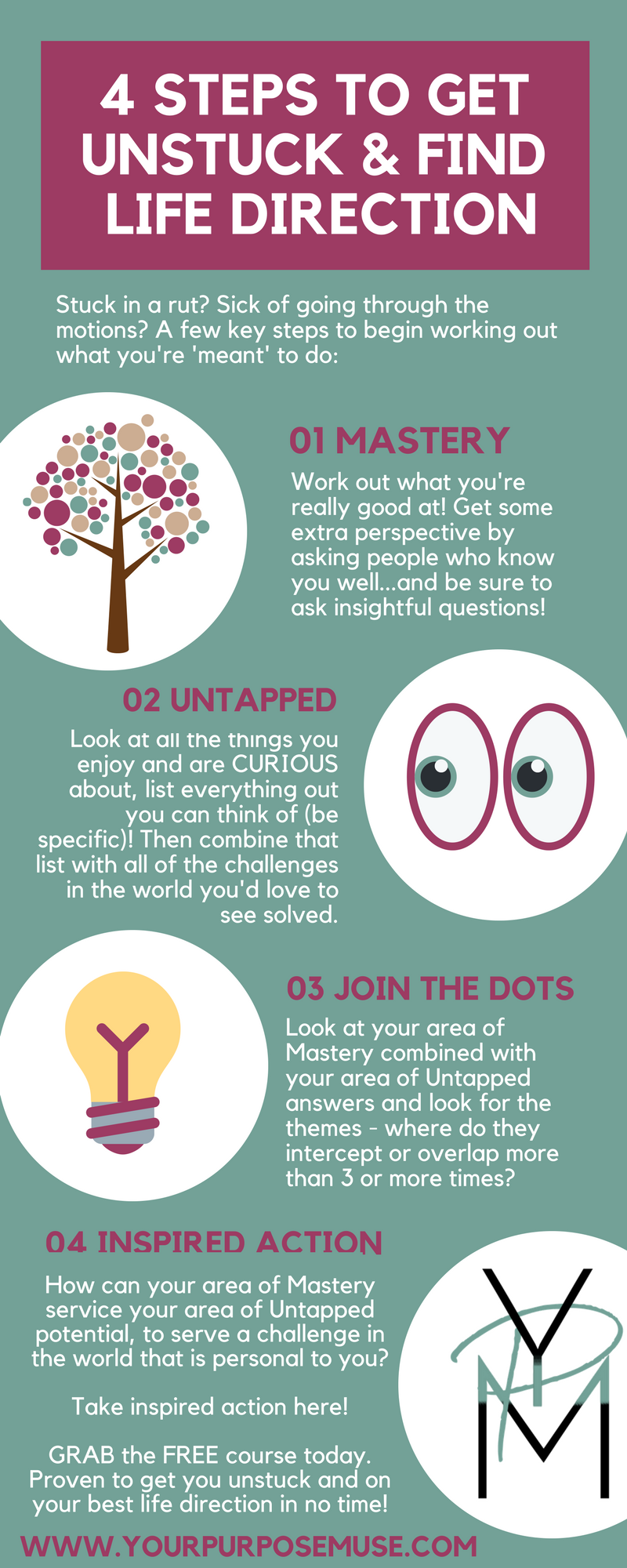 4 Steps To Get Unstuck Find Your Life Direction Pinterest