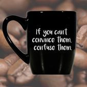 Black Mug Funny Coffee Mug Office Cup by TillyJeanDesigns - Hannah Kuykendall Blog #funnycoffeemugs