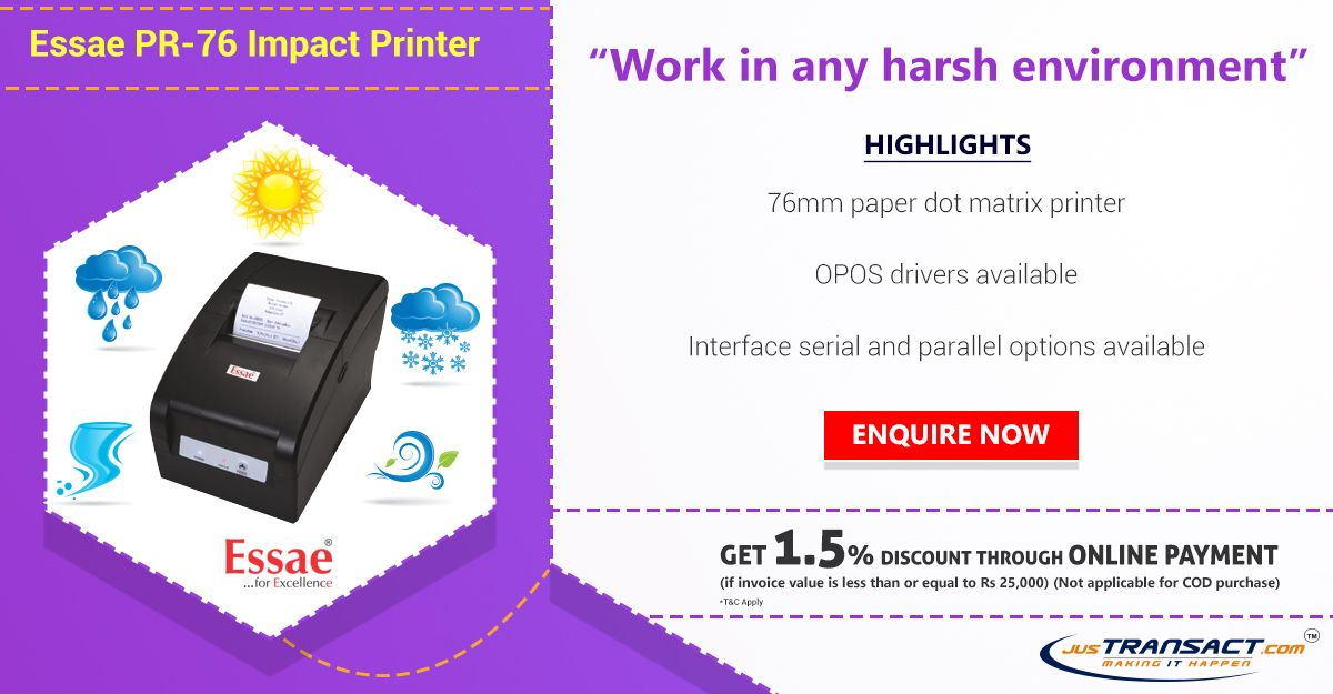 Need a receipt printer? We offer Essae PR-76 Dot-matrix #printer