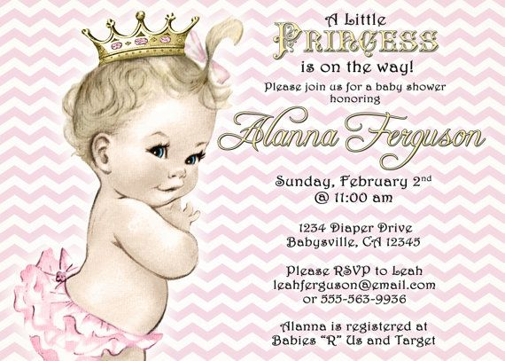 Custom Baby Shower Invitations For Your New Little Princess. Made To Order  With